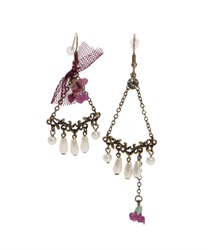 Ashimebuke chain earrings(Purple-M)