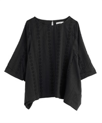 【2Buy20%OFF】Cotton Embroidery Big PO(Black-Free)