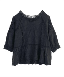 【2Buy20%OFF】Cotton Embroidery Lace PO(Black-Free)