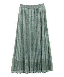 Plaid Pleated Skirt(Green-Free)