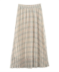 Plaid Pleated Skirt(Beige-Free)