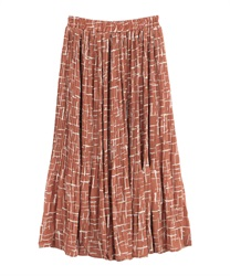 Pleated skirt(Red-Free)