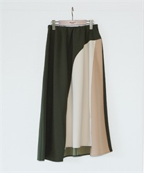 【2Buy10%OFF】Hemmed Flared Skirt(Khaki-Free)