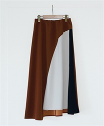 【2Buy10%OFF】Hemmed Flared Skirt(Camel-Free)