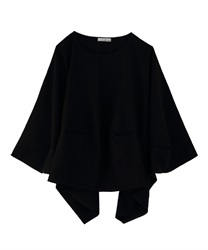 Asymmetric Big Pullover(Black-Free)