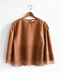 Lace pullover(Camel-Free)