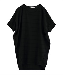 Striped Jacquard Tunic [online only](Black-Free)