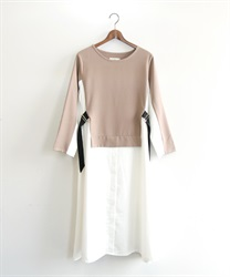 Shirt docking dress(Mocha-Free)