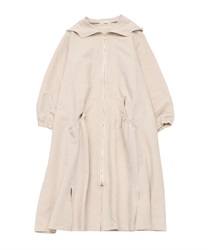 Hooded zip-up coat(Ecru-Free)
