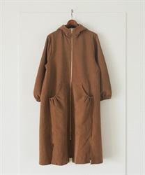 Zip up hooded coat(Camel-Free)