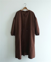 Shirring zip coat(Brown-Free)