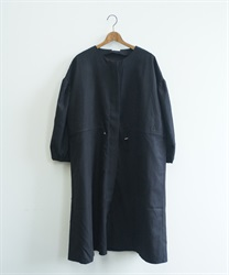 Shirring zip coat(Black-Free)