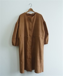 Shirring zip coat(Camel-Free)