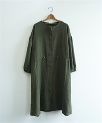 Shirring zip coat