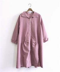 Zip up hooded coat(DarkPink-Free)