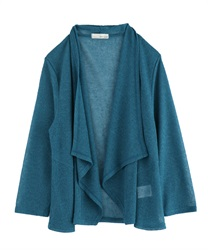 Rib Cut Drape Cardigan [online only](Blue-Free)