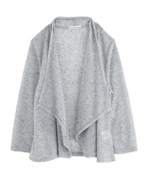 Rib Cut Drape Cardigan [online only](Grey-Free)