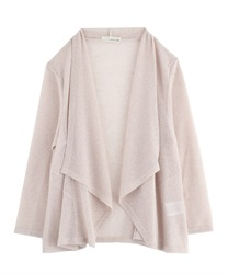 Rib Cut Drape Cardigan [online only]