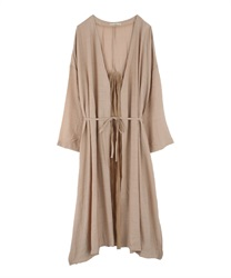 Back Pleated Cardigan(Beige-Free)