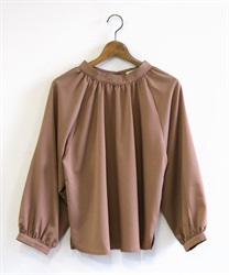 Gather volume blouse(Mocha-Free)