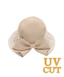Multi-functional UV hat with lace(Ecru-M)