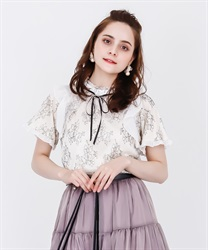 【2Buy20%OFF】Dyed Lace Frill PO(White-Free)