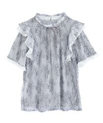 【2Buy20%OFF】Dyed Lace Frill PO(Saxe blue-Free)