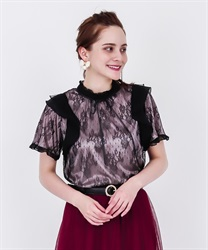 【2Buy20%OFF】Dyed Lace Frill PO(Black-Free)