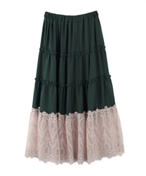 Long skirt_MK291X47(Green-Free)