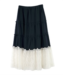 Long skirt_MK291X47(Navy-Free)