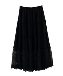Long skirt_MK291X47(Black-Free)