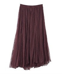 Lacy long skirt(Wine-Free)