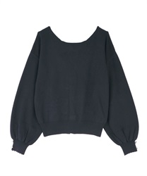 Back lace-up knit(Navy-Free)