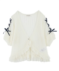 Knit cardigan_MR151X45(Ecru-Free)