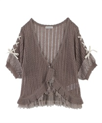 Knit cardigan_MR151X45(Mocha-Free)