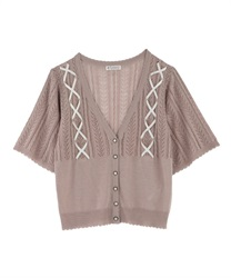 Knit cardigan_MR151X46
