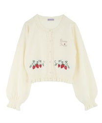 Strawberry Knit Cardigan(White-Free)