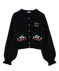 Strawberry Knit Cardigan(Black-Free)
