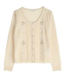 Knit cardigan_MR161X160(Ecru-Free)