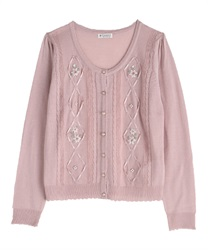 Knit cardigan_MR161X160(Pale pink-Free)