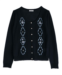 Knit cardigan_MR161X160(Navy-Free)
