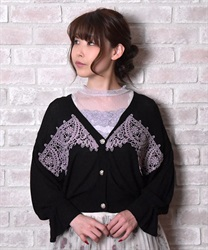 Knit cardigan_MR161X167(Black-Free)