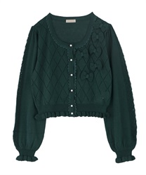 Knit cardigan_MR161X25P(Green-Free)
