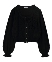 Knit cardigan_MR161X25P(Black-Free)