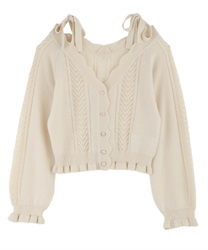 Knit cardigan_MR161X26P(Ecru-Free)