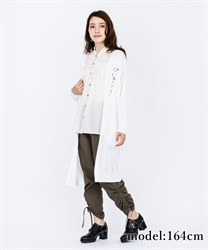 Cutwork Long Cardigan