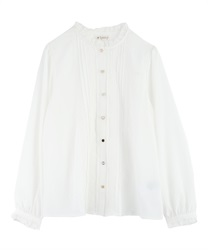 High neck blouse with assorted buttons(White-Free)