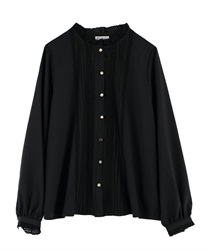 High neck blouse with assorted buttons(Black-Free)
