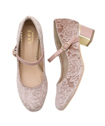 One-strap pumps(Beige-S)