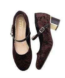 One-strap pumps(Dark brown-S)